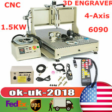 New Listingusb 4 Axis Cnc Router 6090 Engraver Wood Drill Milling Machine 1500whandwheel