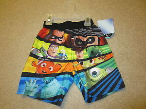 568188c2ac NWT Disney Incredibles Toy Story Nemo Monsters Swim Trunks Swimsuit ...