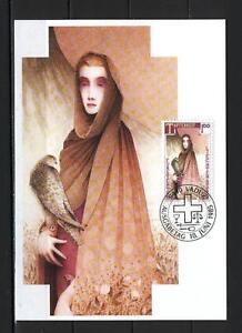 Maxi Card A84 Liechtenstein 1985 Cardinal virtues courage