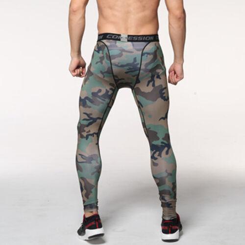 Herren Kompression Hose Leggings Tights Fitness Gym Funktionswäsche Sporthose DE