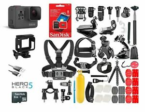GoPro-HERO5-Black-Edition-TouchScreen-40-Pcs-Sports-Accessories-Kit-Bundle