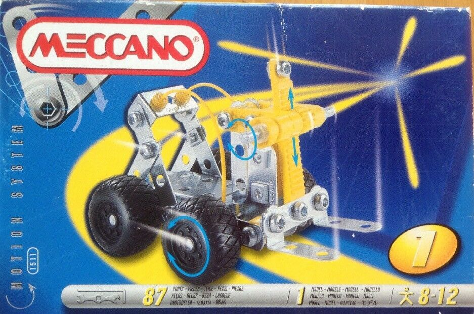 MECCANO 1511 MOTION SYSTEM NEW SEALED BOX 87 PARTS TOOLS & INSTRUCTIONS INCLUDED