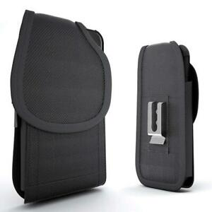 For-OnePlus-7-Pro-Case-Cover-Belt-Clip-Holster-Rugged-Nylon-Vertical-Pouch-Black