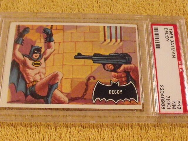 1966 Topps BATMAN Black Bat #49 Decoy PSA 7 NM - Rare Beauty!