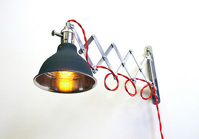 Industrial Scissor Extention Wall Lamp Light - Gas Station Shade