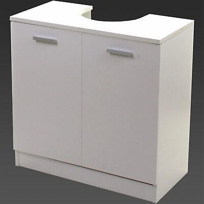 Under Sink Cabinet Basin Unit White Wooden Storage Cupboard Bathroom Furniture
