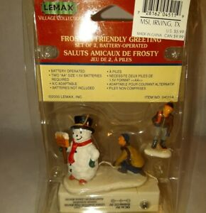 RARE Lemax Village Frosty's Friendly Greeting Figurine New