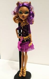 Doll monster high clawdeen wolf frights camera, action