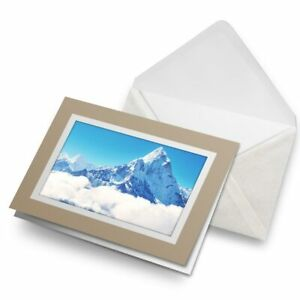 Greetings-Card-Biege-Snowy-Mount-Everest-Mountaineering-15689