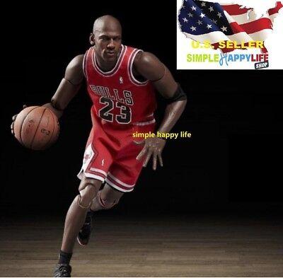 1//6 Scale Michael Jordan Chicago Bulls White Jersey 23 For Enterbay Body ❶USA❶