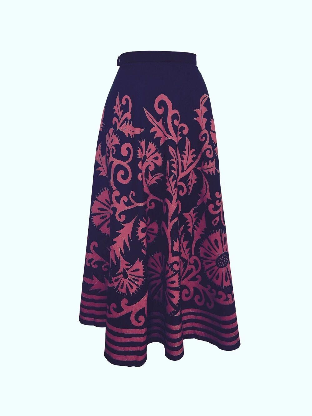 NWT  388 ANTHROPOLOGIE ESVA PURPLE MIDI SKIRT by HARARE S, M