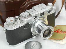 """Leica IIf mit with Elmar 3,5/50 Prüfzertifikat """"Leica mit leichtem Verschluss"""""""