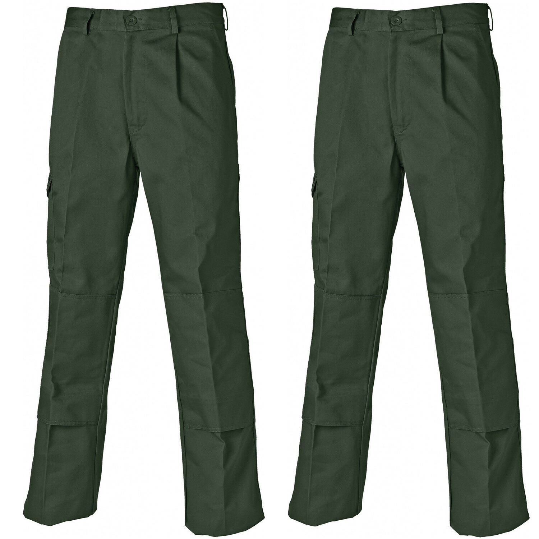 Dickies Redhawk doppio pacco Super Lavoro Pantaloni verde Oliva (varie dimensioni) Commercio
