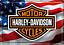 縮圖 1 - Nostalgic Art Harley Davidson Logo Avec USA Drapeau Carte Postale en Tôle /