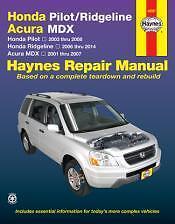 Pilot 2003-2008 Ridgeline 2006-2014 Acura MDX 2001-2007 Haynes Manual 42037