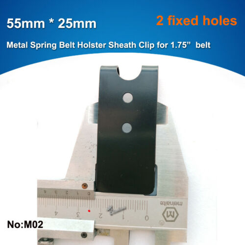 "55mm x 25mm Quick Clip Pro Holster Clips Black Oxide Steel for 1.75/"" Belt"