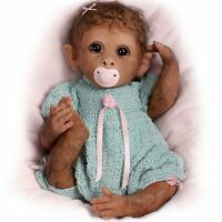 Ashton Drake Clementine Needs A Cuddle Baby Monkey Doll By Linda Murray