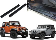 2pc Door Entry Sill Scuff Guards For 2007-2017 Jeep Wrangler New Free Shipping