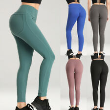 Womens YOGA Sports Pants Butt Lift Ruched Leggings Fitness Workout Stretchy X409