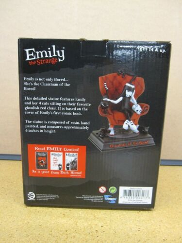 Emily the Strange Chairman of the Bored Limited edition Statue RARE