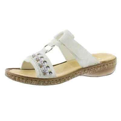 15% Rabatt RIEKER Pantolette Sandale Weiches FußbettWeiss 628M6 80 | eBay