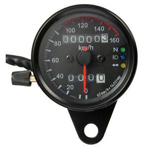 Moto-compteur-kilometrique-Compteur-de-vitesse-retro-eclairage-LED-12V-Noir-WT