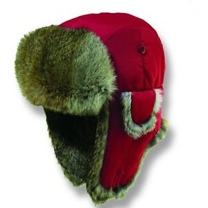 Image is loading WOOLRICH-RED-TROOPER-HAT-L-SUPREME-QUALITY-WINTER- eb36aa58791