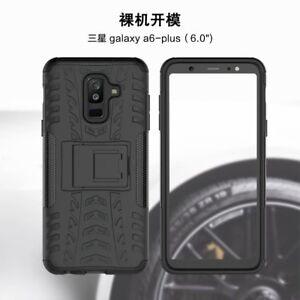 Pour-Samsung-Galaxy-A6-Plus-2018-Robuste-Hybrid-Armure-Etui-Antichocs-Etui-Stand