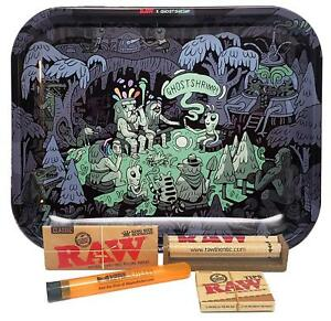 Raw Large Rolling Tray Ghostshrimp With King Size Supreme Paper