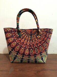 Indian 100 Cotton Mandala Handbag