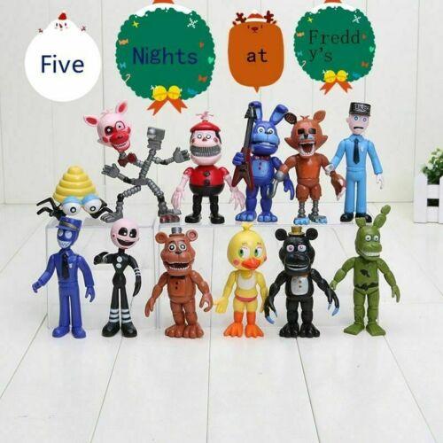 12Pcs Cinq Nights at Freddy/'s FNAF Action Figures Doll Jeux Jouet Jeu Cadeau de Noël