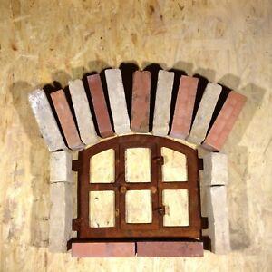 701A-Antikes-Stallfenster-Gusseisen-Fenster-Mauersteine-Garten-Natursteinmauer