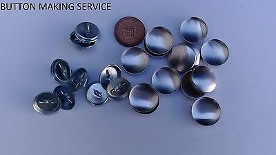 NON RUST UPHOLSTERY BUTTONS 10 X NO 30 MADE USING YOUR FABRIC//COVERING SERVICE