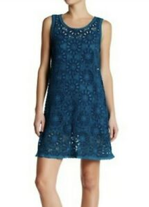 NWT-Sleeveless-JOHNNY-WAS-Embroidered-DIAL-Eyelet-Dress-with-Slip-S-328