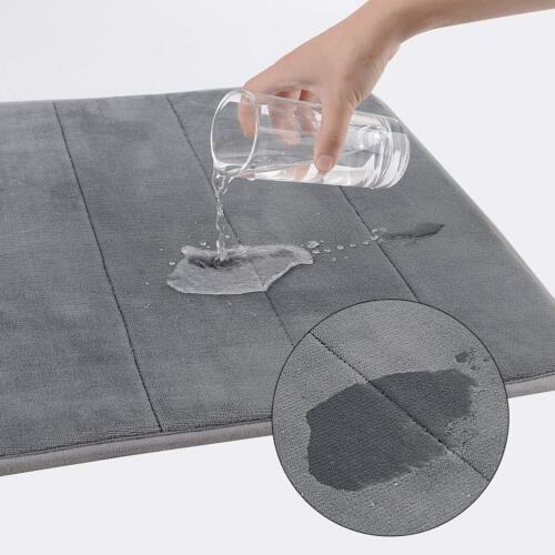 Large Memory Foam Bath Mat Set Non Slip Toilet Pedestal Shower Bathroom Small
