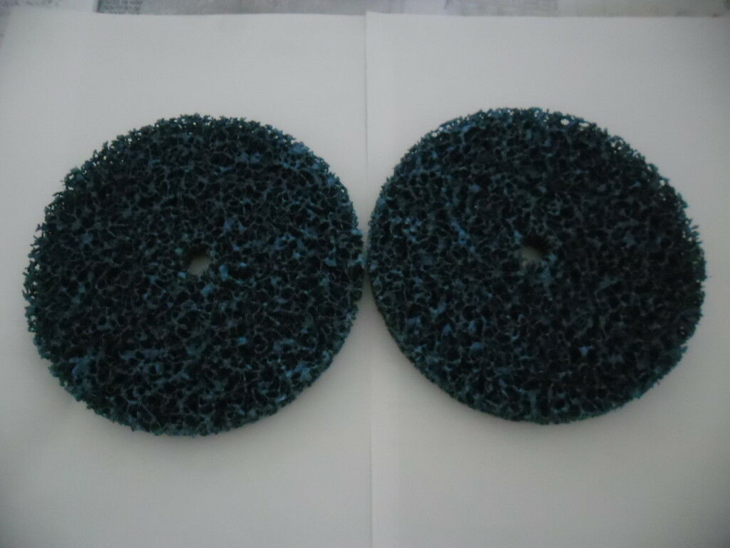 soft E57014 3M 150mmx13mm, 2 Stück // Pack Grobreinigungsscheiben blau