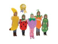 Five A Day Fruit fancy dress up BNWT 4-7yrs Banana Grapes Carrot Strawberry Pea