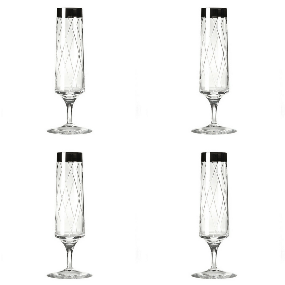 Vista Alegre Crystal Biarritz Flute - Set of 4