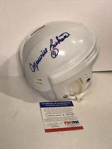 MAURICE RICHARD Autographed Montreal Canadiens Signed Mini Helmet Hockey PSA/Dna