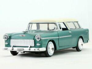 CHEVROLET Bel Air Nomad - 1955 - greenmetallic - MotorMax 1:24