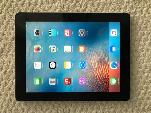 Cellular Black Verizon Near Mint Apple iPad 3rd Gen 64GB Wi-Fi 9.7in