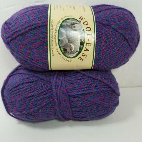 3 oz ea Acrylic purple, maroon, green 2 Skeins Wool-Ease CHELSEA TWIST Yarn