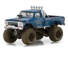 1/64 Greenlight 1974 Ford F-250 Bigfoot #1 Dirty Version Diecast Blue 49010A