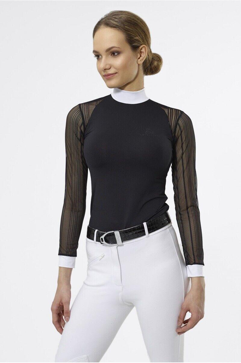 Cavalliera torneo shirt contessa nero manica lunga