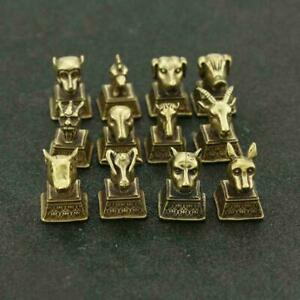 12PCS-Chinese-Brass-Statue-Suit-Twelve-Animals-Of-The-Chinese-Zodiac-Seal-Stamp
