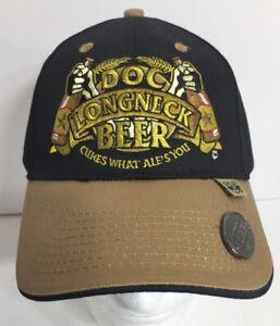 Details about New Doc Longneck Beer Baseball Cap Hat With Bottle Opener On  Visor