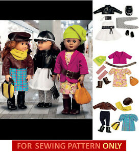 SEWING-PATTERN-MAKE-DOLL-CLOTHES-FITS-AMERICAN-GIRL-SAIGE-MCKENNA ...