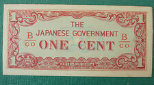 1942-1945 Burma Japanese Occupation One Cent Note UNC