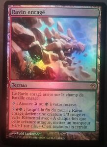 Ravin-Enrage-VF-PREMIUM-FOIL-French-Raging-Ravine-Magic-mtg-NM