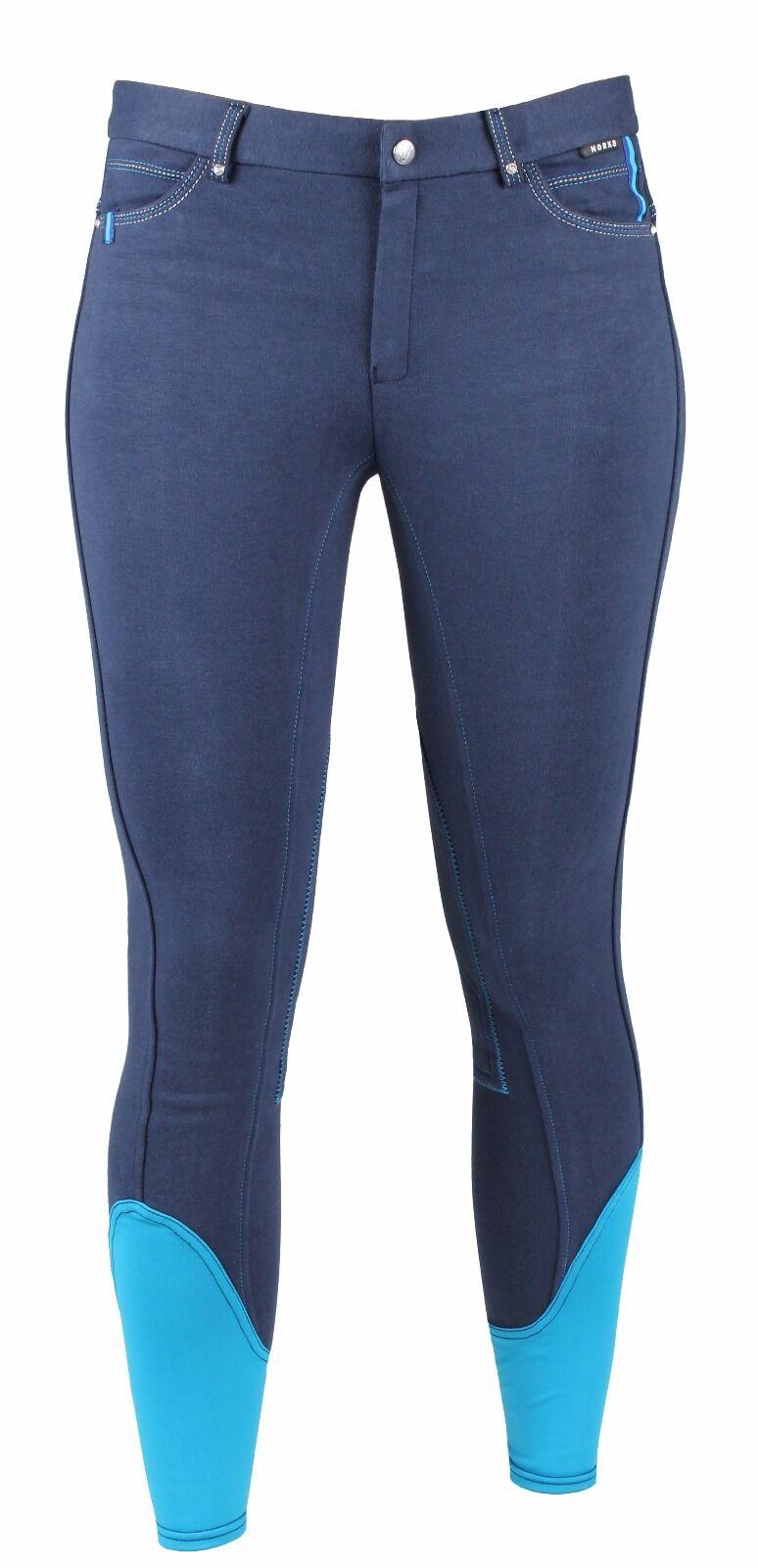Horka Torino Elasta Breeches - bluee Turquoise Size 16
